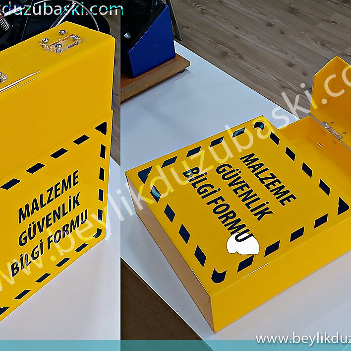 plexi box, material safety data sheet box, plexi lid box production